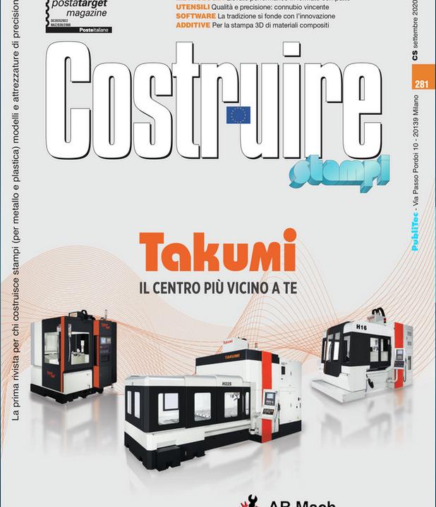 Articolo Takumi su rivista Costruire Stampi Settembre 2020